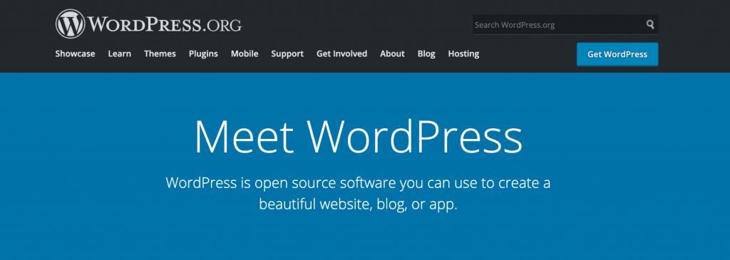 WordPress.org, a self-hosted CMS.