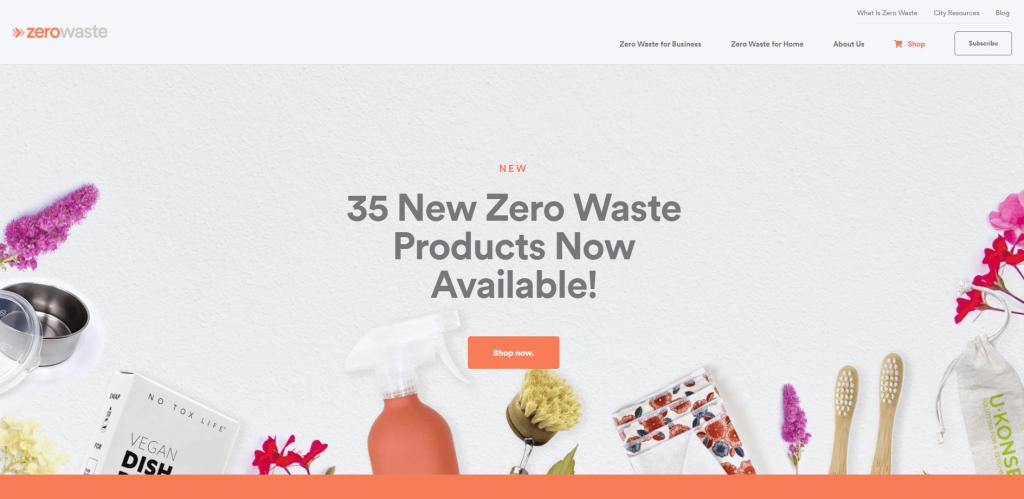 Zero Waste homepage