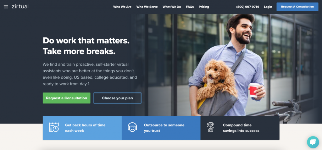 Zirtual homepage