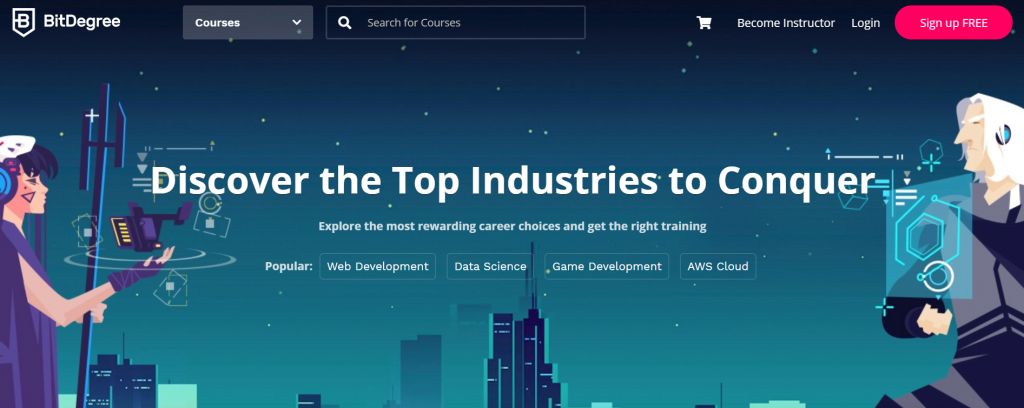 BitDegree - Discover the Top Industries to Conquer