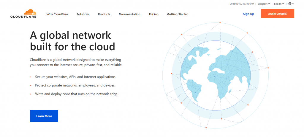 The Cloudflare's front page - a global network built for the cloud.