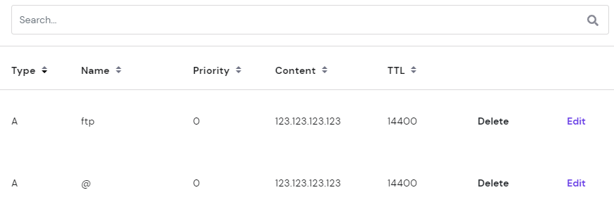 List of DNS records,