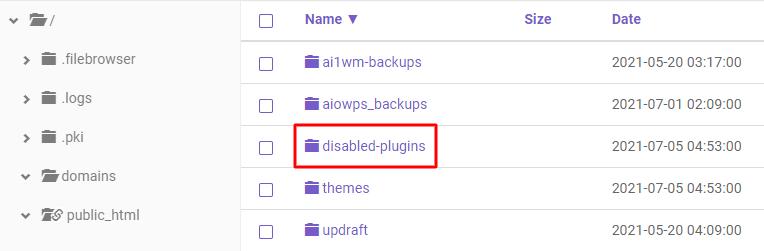 DSisabled-plugins folder,