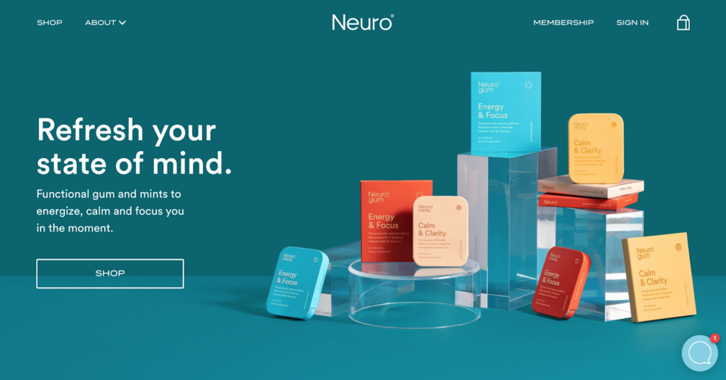 Neuro site's front page.