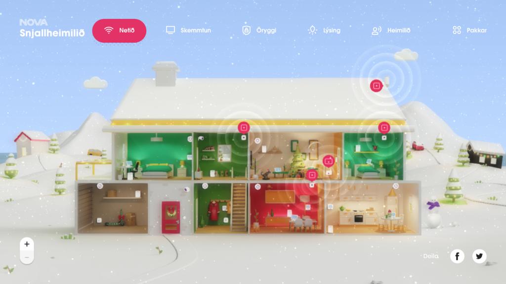 Nova Smart Home site's front page.