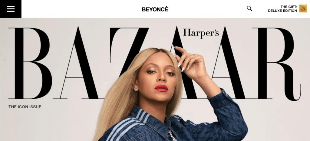 Beyoncé's WordPress website