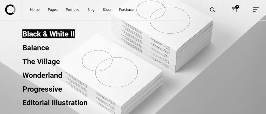 A screenshot illustrating how Black and White II which is a premium WordPress theme looks like.