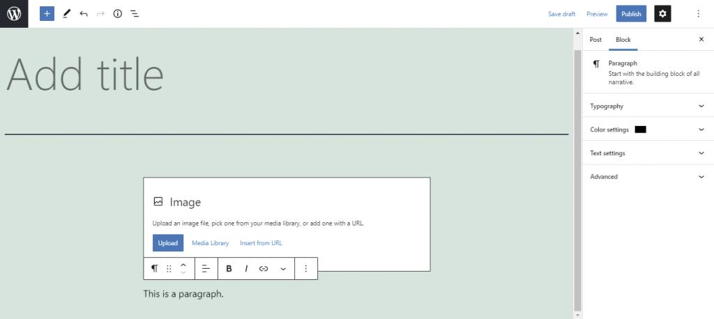 Block customization options.