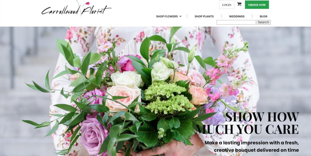 trang chủ thương mại điện tử của Carrollwood Florist