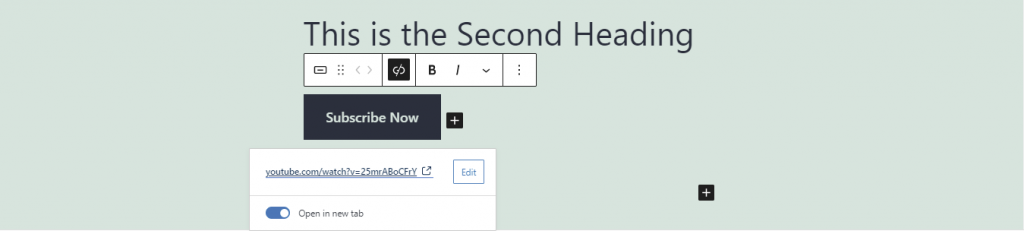 Edit button option.