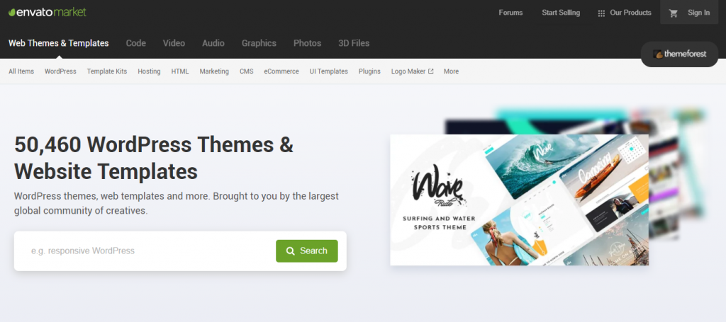 WooCommerce theme depository.