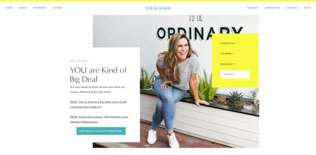 Erin King's website.