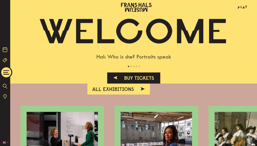 Frans Hals Museum site's front page.