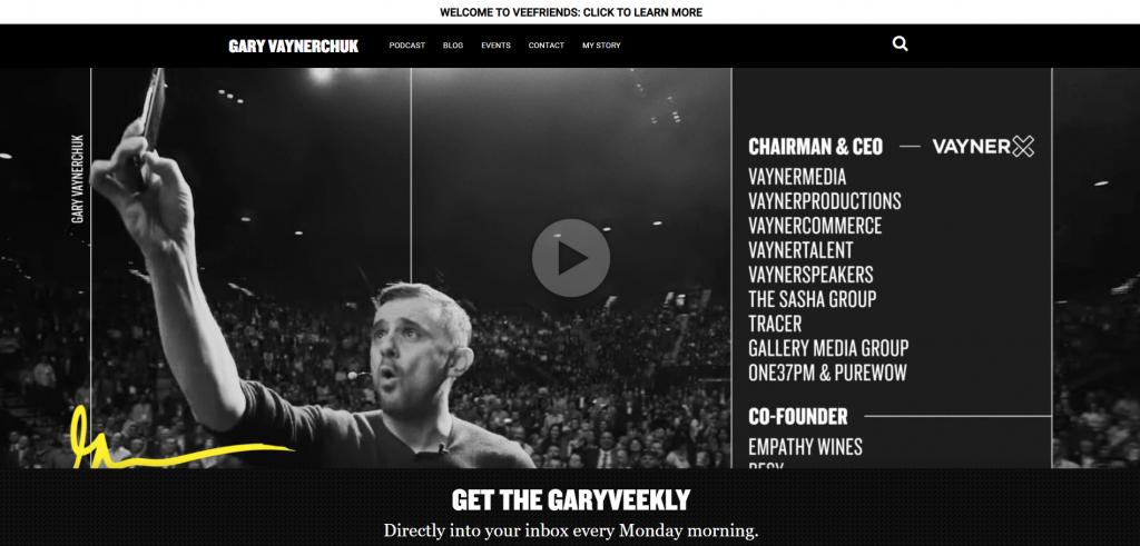 Gary Vaynerchuck's website.