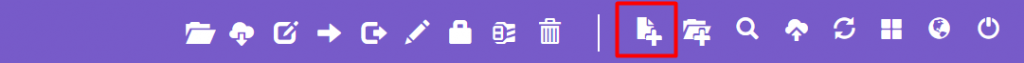 New File button on hPanel's File Manager.