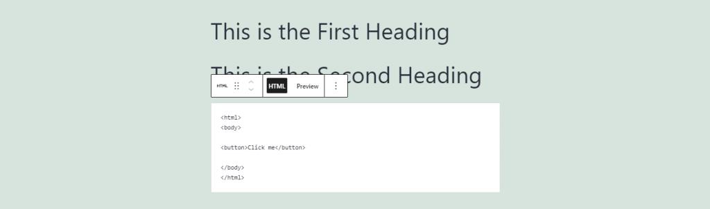 HTML block.