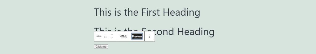 Preview button.
