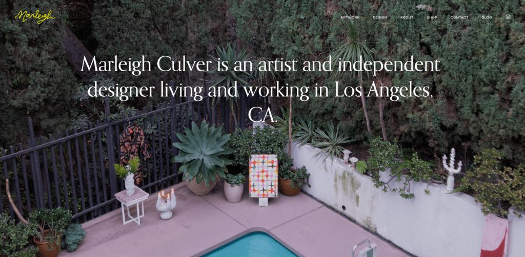 Marleigh Culver's portfolio website.