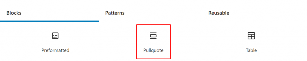 Gutenberg Pullquote block.