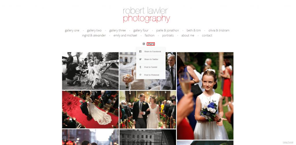 The homepage of Robert Lawler's website.