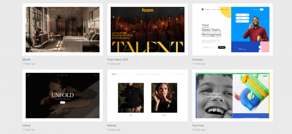 Design examples on siteInspire.