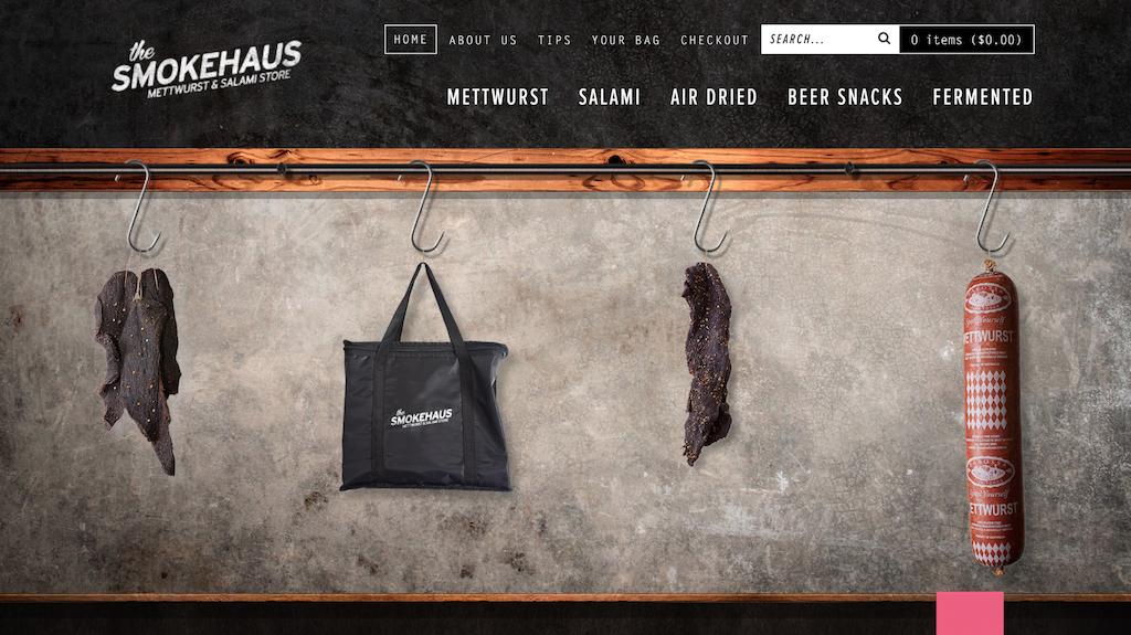 Smokehaus site's front page.