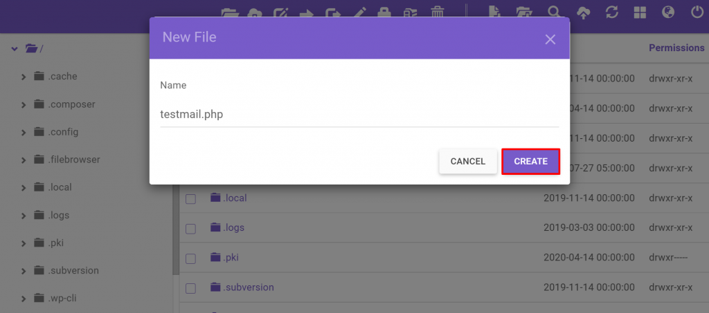 New file: testmail.php