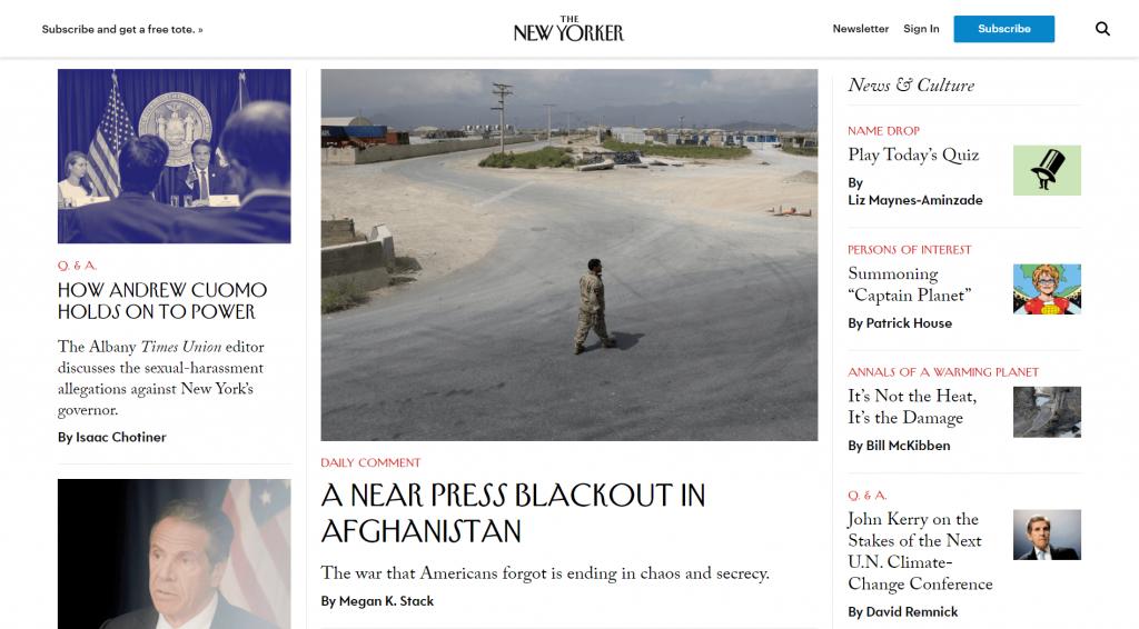 WordPress site: The New Yorker