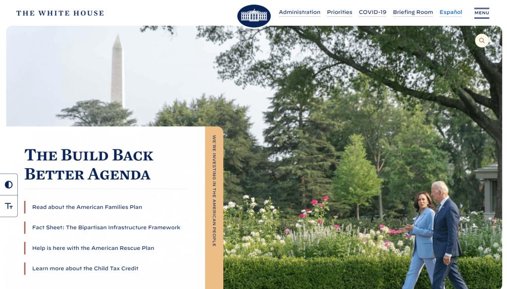 WordPress website: The White House