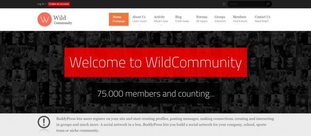 WildCommunity intranet theme