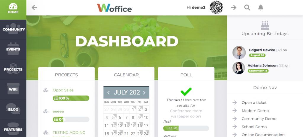 Woffice WordPress intranet theme