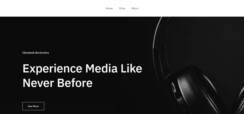 Screenshot illustrating Zyro's pre-made website design called Safa,