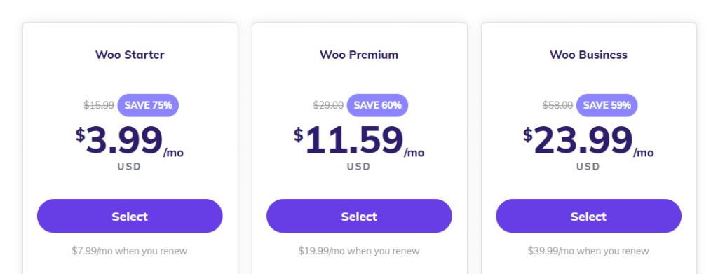 Hostinger's WooCommerce hosting plans