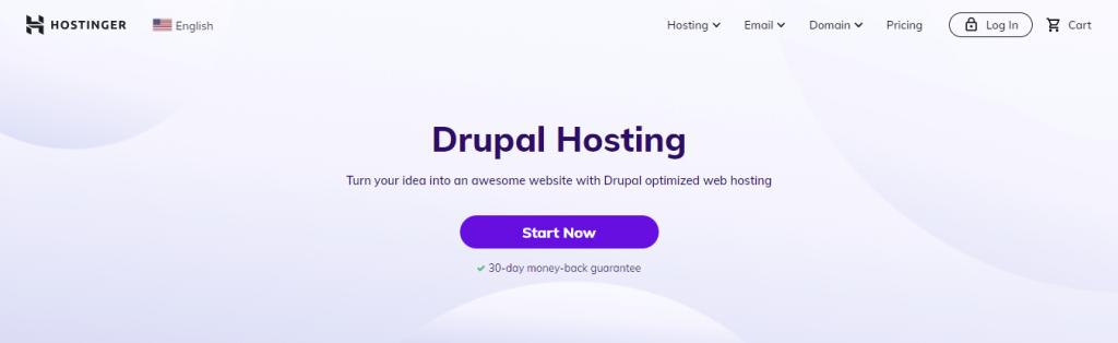 Hostinger's Drupal Hosting - Turn your idea into an awesome website with Drupal optimized web hosting