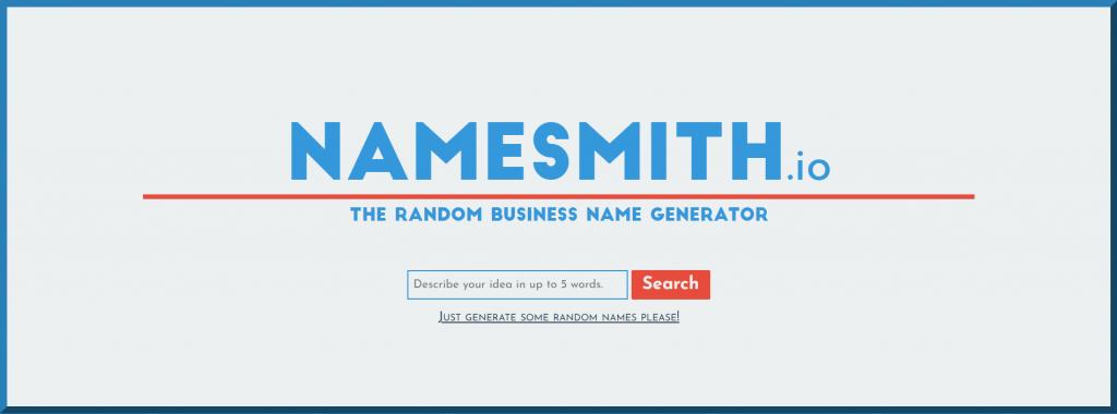 Namesmith homepage.