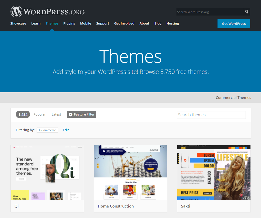 Free WordPress themes for your online boutique