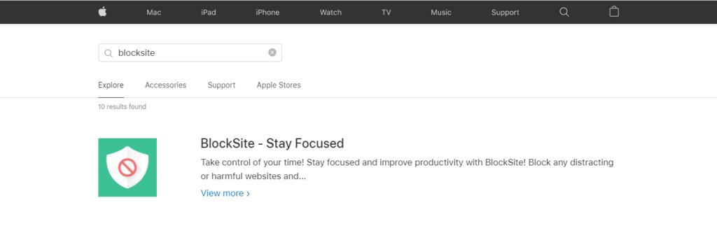 BlockSite on Apple App Store.