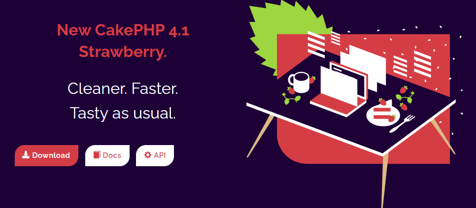 CakePHP - New CakePHP 4.1 Strawberry. Cleaner. Faster. Tasty as usual.