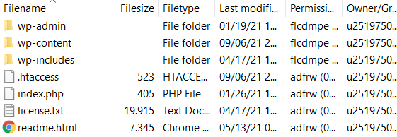 Deleting the .htaccess_old file.