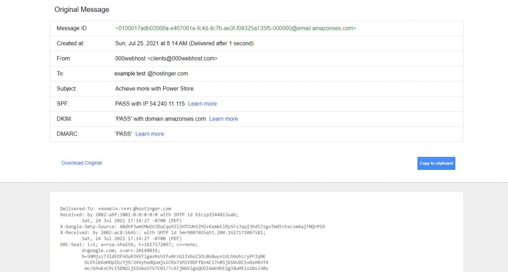 Gmail header.