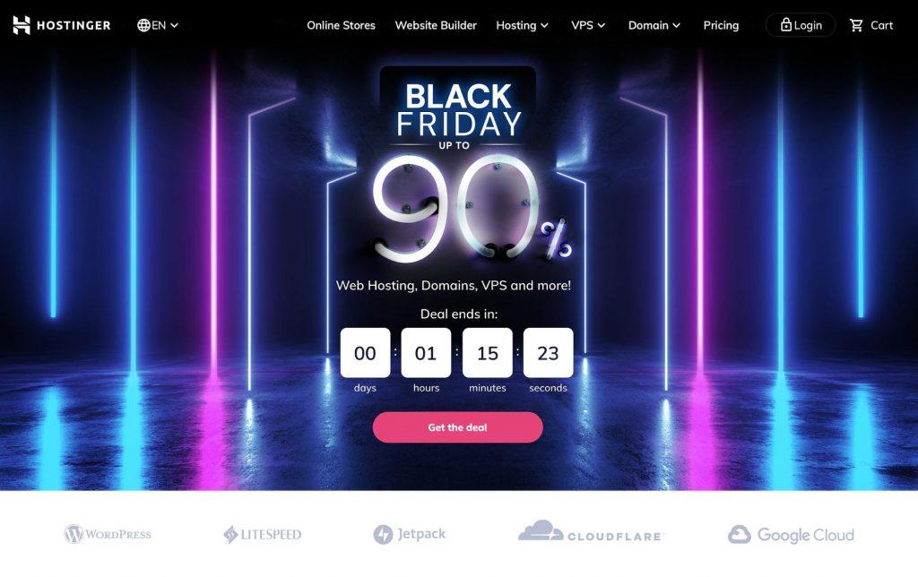 Hostinger's Black Friday promotion.