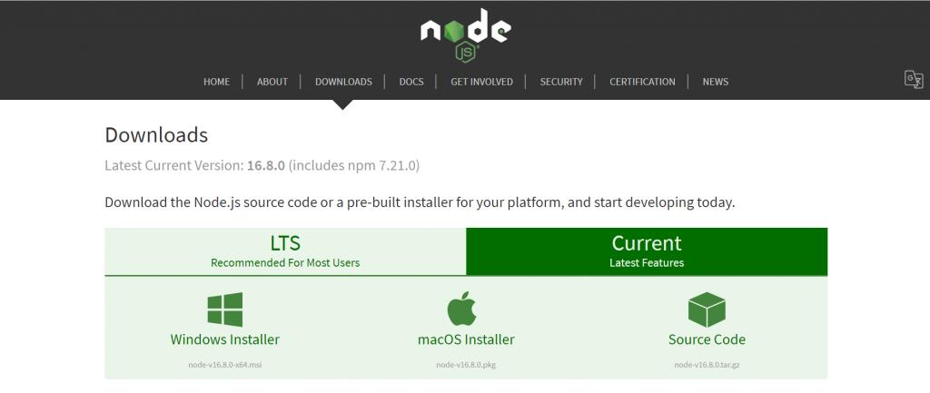 node.js official website