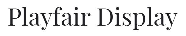 An example of a serif font, Playfair Display.
