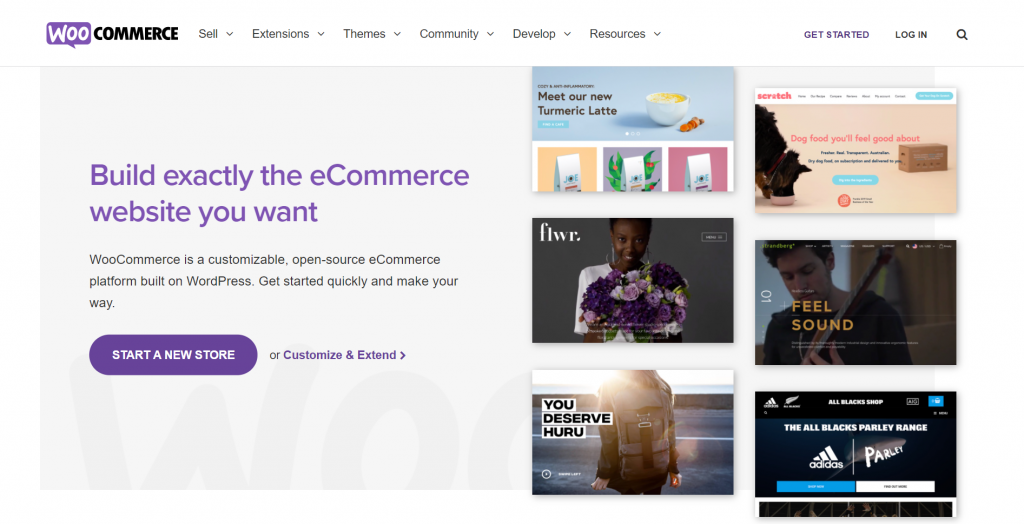 WooCommerce homepage