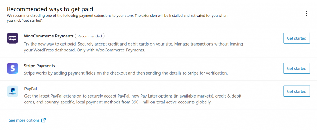 WooCommerce payment gateway options