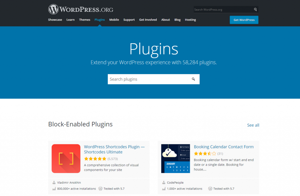The official WordPress plugin directory.