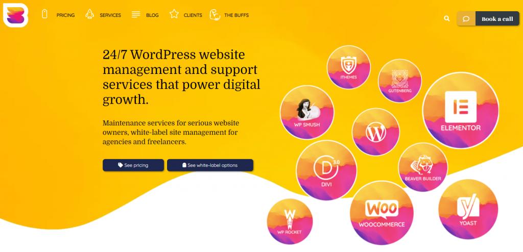 WPBuffs, a WordPress website management service provider.