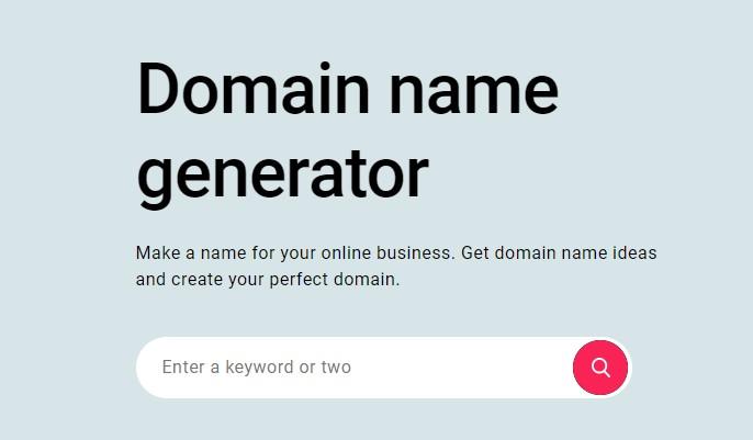 Zyro domain name generator.