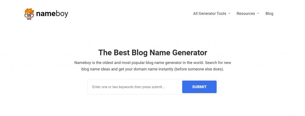 Nameboy - The Best Blog Name Generator.