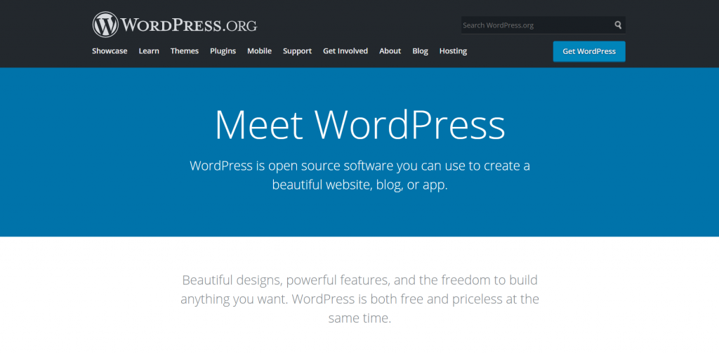 WordPress - open source software you can use to create a beautiful website, blog, or app.